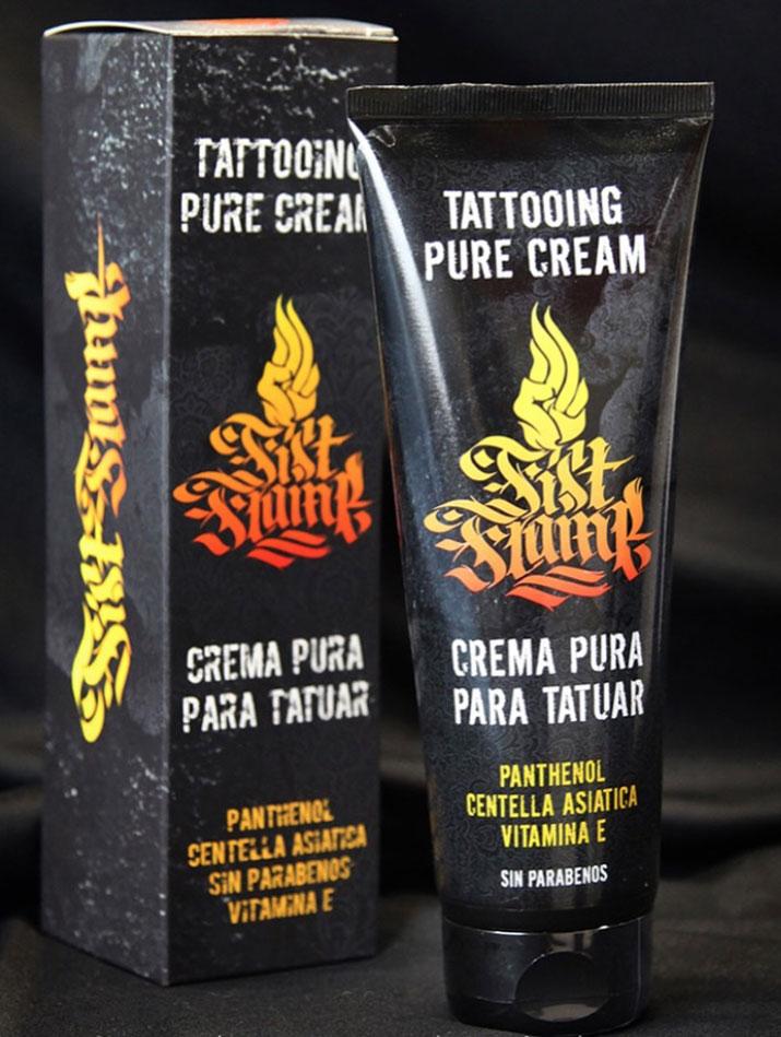 crema para tatuar fist flame