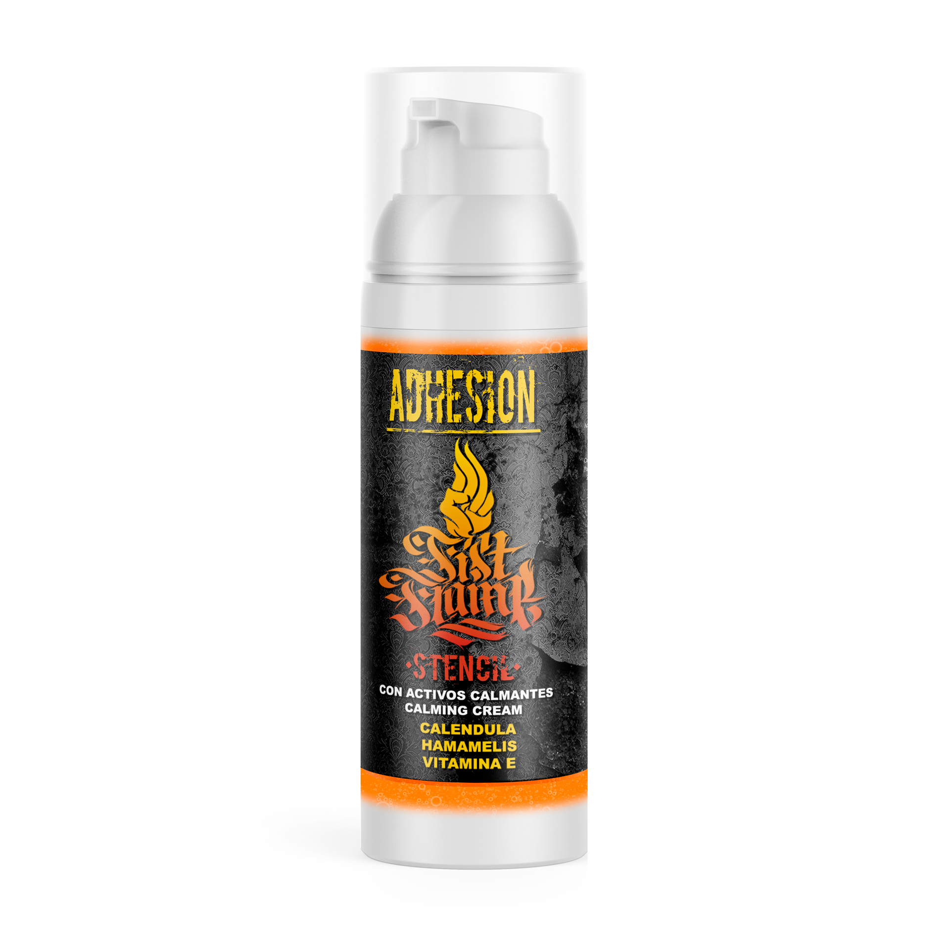 stencil-fist-flame-material-para-tatuar